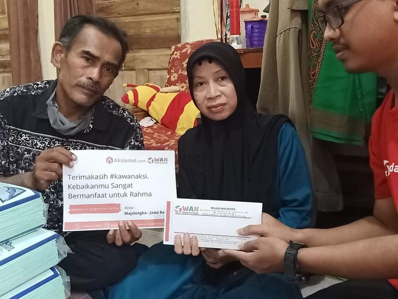 Komunitas WAN Salurkan Amanah Donasi Tahap 1 Untuk Kesembuhan Rahma