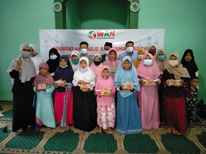 Komunitas WAN Peringati Maulid Nabi Muhammad SAW Bersama Doa Yatim Babelan
