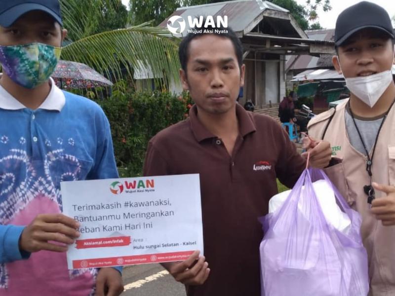 Komunitas WAN Gelar Bantuan Tahap Pertama Untuk Korban Banjir Bandang Kalimantan Selatan