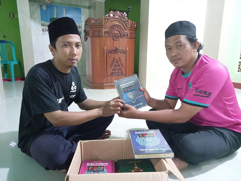 WAN Hadirkan Al – Qur'an Baru di Musholah Kawasan Bencana Alam
